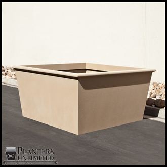 Tuscana Tapered Fiberglass Commercial Planter 72in.L x 72in.W x 36in.H