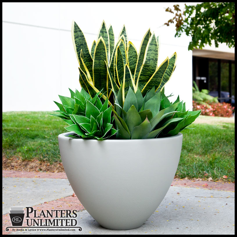 Modular Planters - fiberglass planters in curved sections ...  |Arched Planters