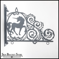 Unicorn Silhouette Sign Bracket - Water Jet Cut