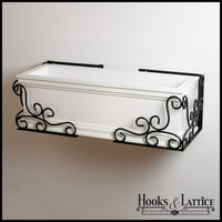 Universal Scroll Flower Box Holder Pair