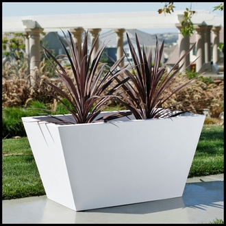 Urban Chic Tapered Premier Composite Commercial Planter 18in.L x 18in.W x 24in.H