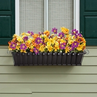 Venetian Decora Window Boxes with Black Galvanized Liners