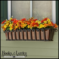 Venetian Decora Window Boxes with Bronze Galvanized Liner