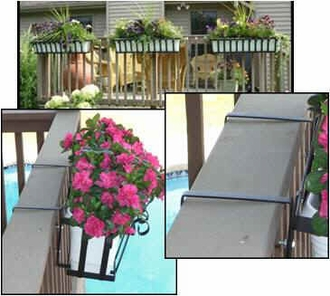 Venetian Decora Window Boxes with White Galvanized Liners
