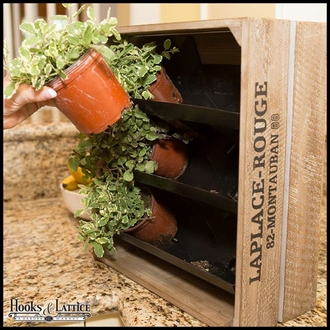 Vertical Wall Garden - From Re-purposed Wine Crates!