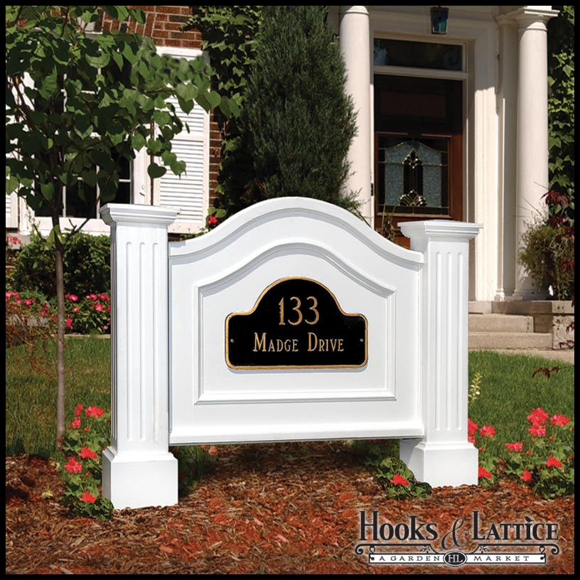 Architectural Address Signs Simple Decorative Address Yard Signs