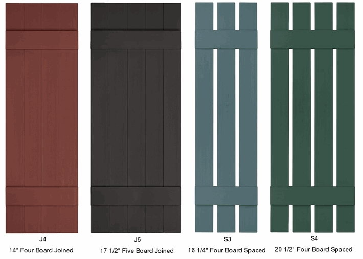 Vinyl Board And Batten Exterior Shutters Click To Enlarge