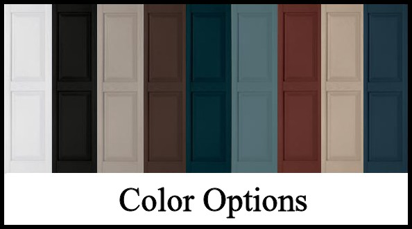 Decorative Exterior Vinyl Shutters, Color Choices | Hooks and Lattice
