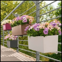 Basswood Self-Watering Window Box Planters