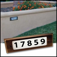Voyager Address Kit Low Voltage Step Light - Weathered Brass