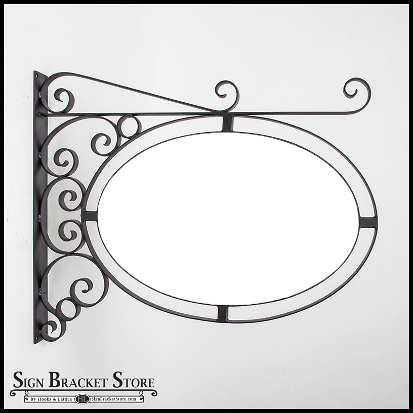 Fixed Mount Sign Kit, Oval Metal Frame