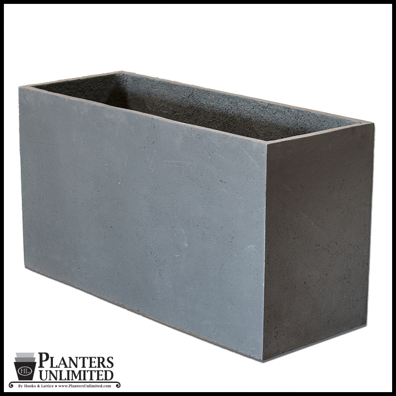 Large commercial rectangular planters planters unlimited weathered stone rectangular planters click to enlarge workwithnaturefo
