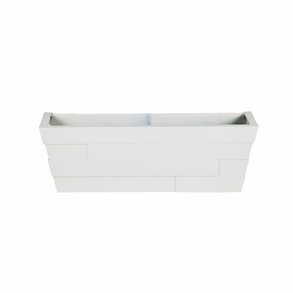 48in. White Brickton Fiberglass Window Box