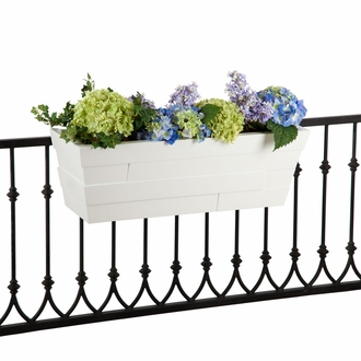 60in. White Brickton Fiberglass Window Box