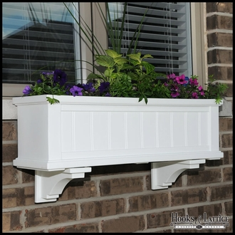 White Prestige / Promenade Window Box Brackets - (Pair)