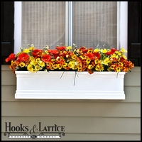 White Supreme Fiberglass Window Boxes