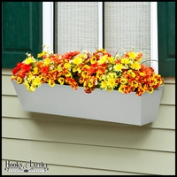 Galvanized Window Boxes- Silver Tone Metal