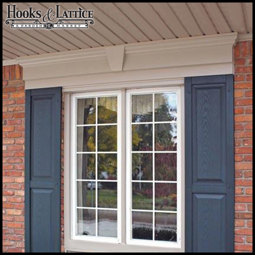 Window headers create curb appeal and glam home exteriors for Window header