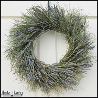 Winterbud & Preserved Lavender Wreath -18 Inch