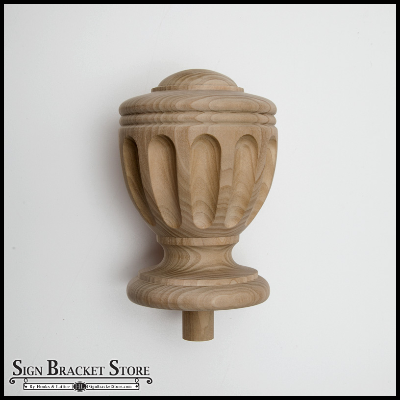 Wood Decorative Finial Furniture Grade Style D8