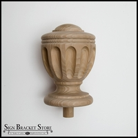 Wood Decorative Finial- Furniture Grade, Style D8