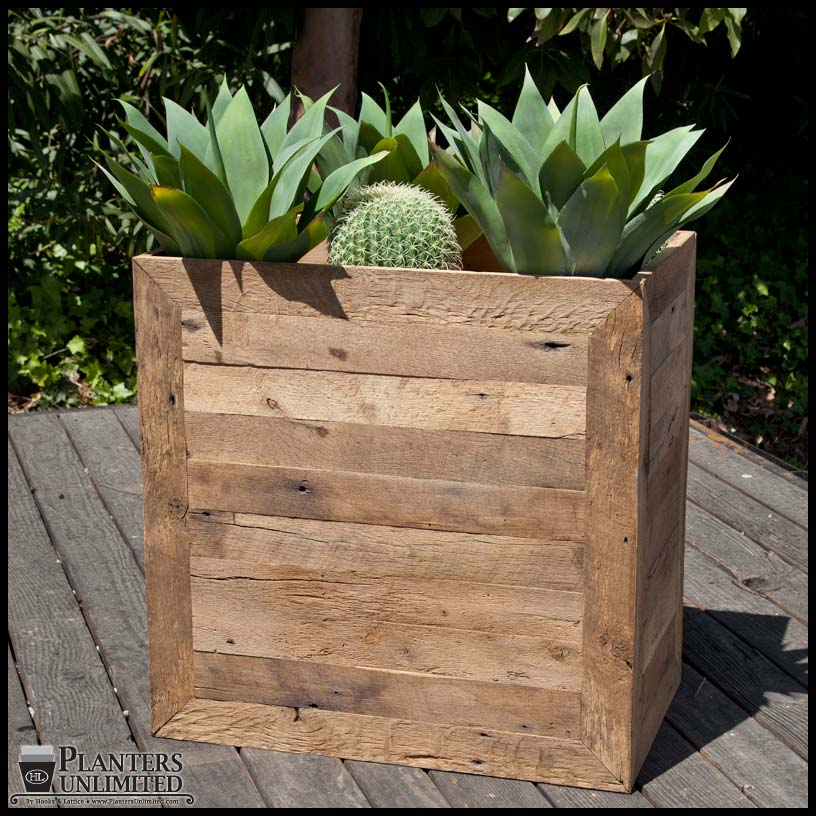 large wooden planters commercial large wood planter boxes. Black Bedroom Furniture Sets. Home Design Ideas