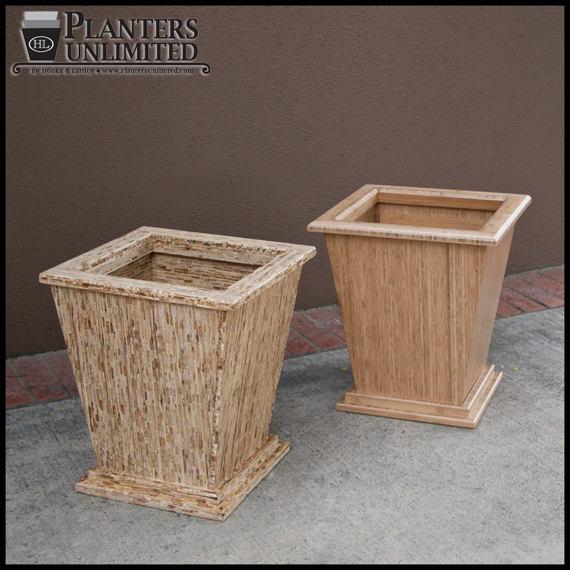 Large wooden planters commercial large wood planter boxes for Wooden planters how to make