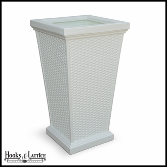 Worthington Tall Planter - White