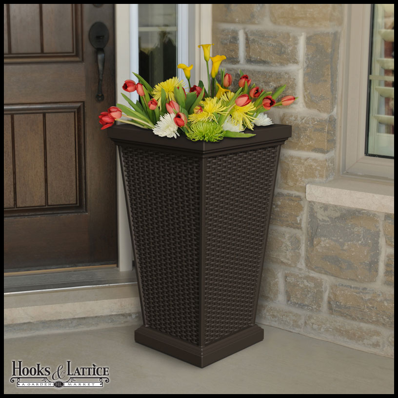 Tall Patio Planter Decorative Outdoor Planters Hooks and Lattice