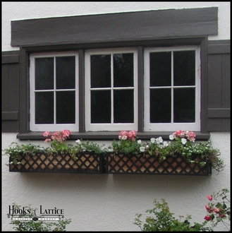Woven Iron Window & Garden Planters (Finished on 4 Sides)