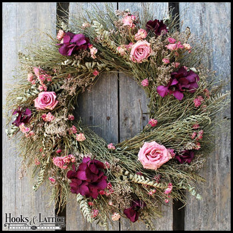 somewhere wreath the middle wreaths door front spring in
