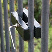 Wrought Iron Fence Sign Holder