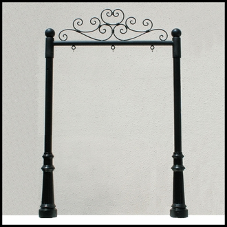 Wrought Iron Post and Panel System