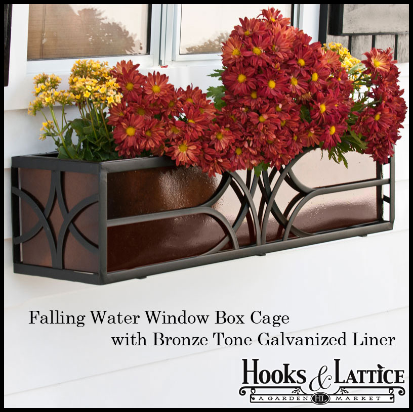 Wrought Iron Window Box Cages Click To Enlarge