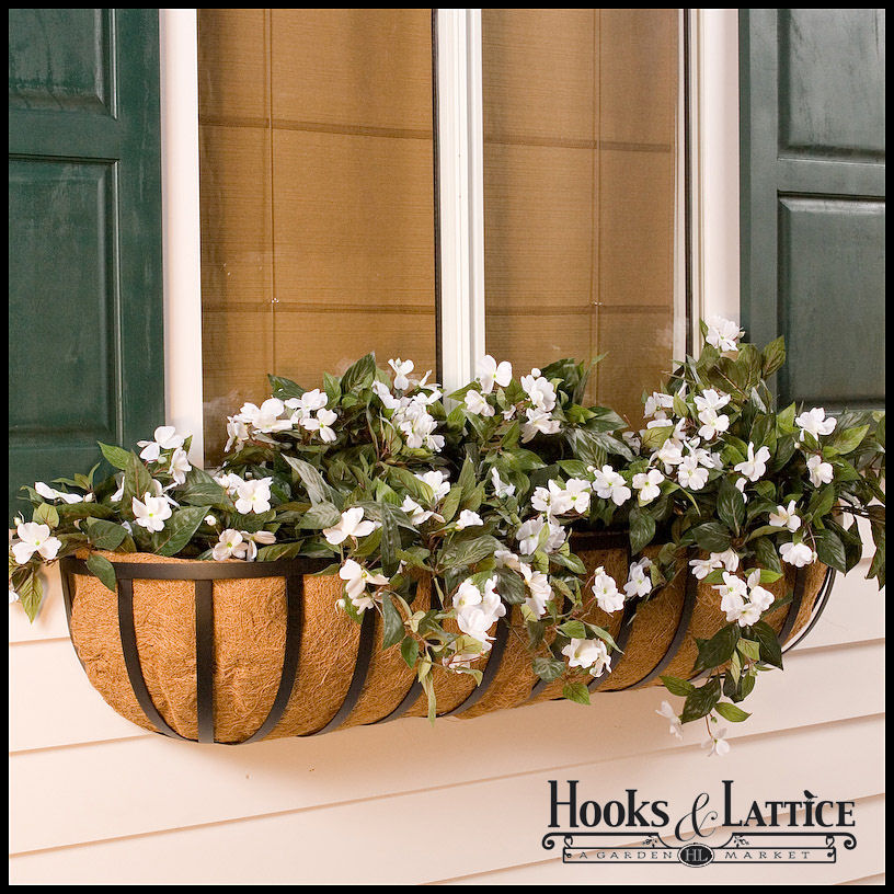 Extra Large Window Planters Scroll Wall Baskets Hooks