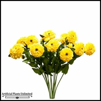 Yellow Zinnia Spray - Set of 12