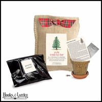 Yule Tree Growing Kit in Burlap Bag