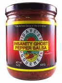 Dave's Gourmet Insanity GHOST Pepper Salsa, 16oz.