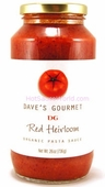 Dave's Organic Red Heirloom Pasta Sauce, 26oz.