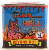 Habanero Cajun Seasoning From Hell, 4.25oz.