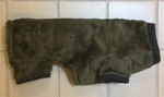 Dachshund Dark Olive Extra Heavy Windblock Fleece Bodysuit