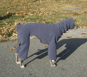 Italian Greyhound Greystone Mauve Hooded Fleece Bodysuit