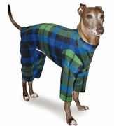 Italian Greyhound Blackwatch Plaid Indoor/Outdoor Bodysuit