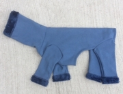 Italian Greyhound Cornflower Blue Hooded Fleece Bodysuit