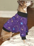 Italian Greyhound Purple Embroidered Sweater