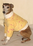 Italian Greyhound Yellow Embroidered Fleece Sweater