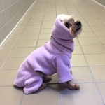 Toy Lavender Hooded Outdoor Fleece Bodysuit