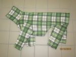 Whippet Grass Plaid Indoor/Outdoor Bodysuit
