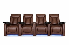 HT Design Somerset Theater Seating Power Recline Top Grain Leather