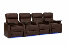 HT Design Warwick Theater Seating Brown Top Grain Leather